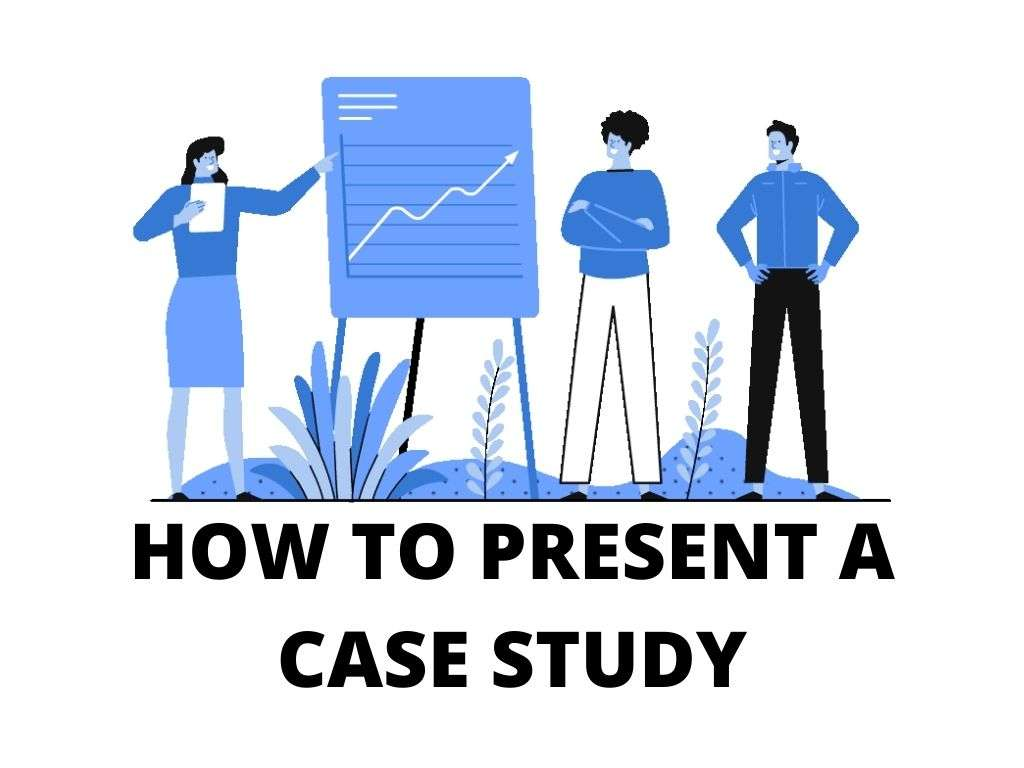 Illustration of a group of people doing a presentation.