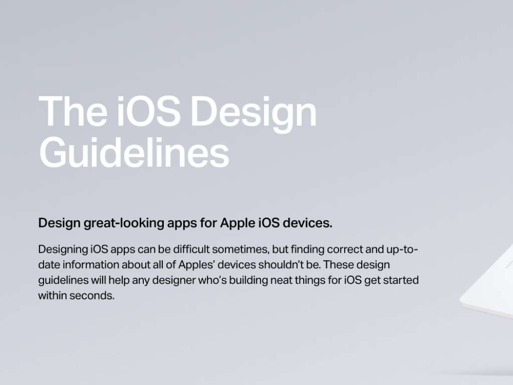 The iOS Design Guidelines by Ivon