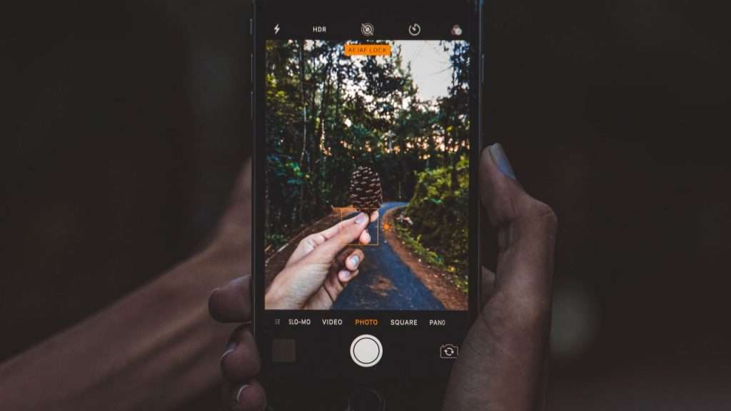 A picture of a phone taking a picture