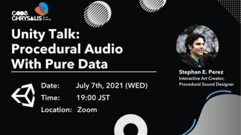 Unity Talk_ Procedural Audio with Pure Data photo banner