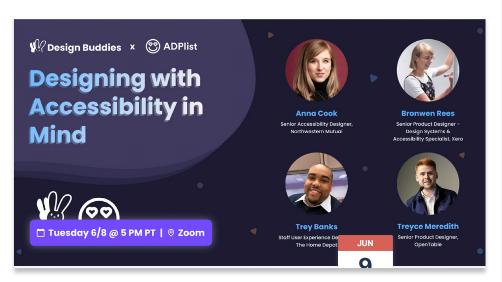 Designing with Accessibility in Mind banner